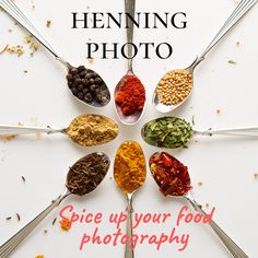Image of spices in spoons #foodphotography #spices #spoons #advertisingphotography