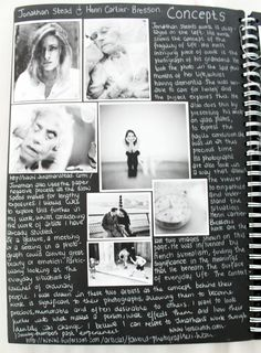 For my photography coursework does anyone get this concept?