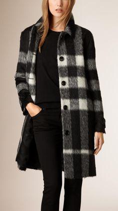 Lambskin Trim Wool Alpaca Blend Coat | Burberry