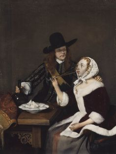 Gerard ter Borch, A gentleman pressing a lady to drink (ca. 1660, Royal Collection, London)