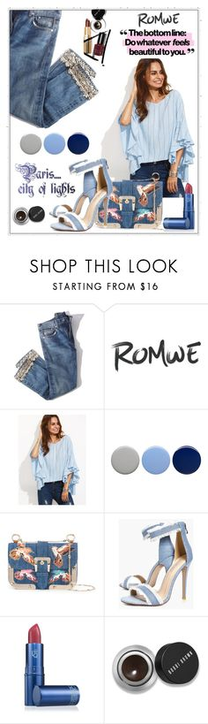 """""""Denim"""" by iris74 ❤ liked on Polyvore featuring Brock Collection, Burberry, RED Valentino, Boohoo, Lipstick Queen and Bobbi Brown Cosmetics"""