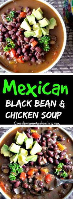 Mexican Black Bean and Chicken Soup ENCHILADA #SAUCE #mexican #recipe #foodbloggerlife #buzzfeedfood #buzzfeed #EEEEEATS #buzzfeast #healthyrecipes #getinmybelly #wholefoods #realfood #spoonfeed #goodeats #snackfood #dips #getinmybelly #tasty #canadiancookingadventures #getinmybelly #canadiancookingadventures #recipe #foodie #buzzfeed #SlowCooker #chicken #tortilla #soup #soups #mexican #enchiladas