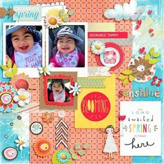 layout using FLOWERS AND SUNSHINE by Red Ivy Design  @ Sweet Shoppe Designs Template is from Stitched Together 1 by Fiddle Dee Dee Designs