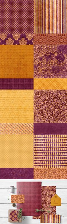 Design Blogs, Graphic Design Projects, Web Design, Damask Patterns, Web Banners, Burgundy And Gold, Paper Products, Digital Papers, Packaging Ideas