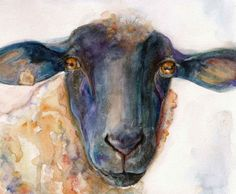 Items similar to SHEEP Watercolor Print from Original Watercolor painting Nursery ART SHEEP Cathy Darling on Etsy Sheep Paintings, Nursery Paintings, Animal Paintings, Nursery Art, Watercolor Animals, Watercolor Print, Watercolor Paintings, Sheep Art, Cow Art