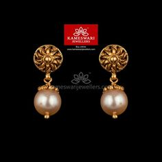 Unusual Wedding Rings for Women Gold Jhumka Earrings, Buy Earrings, Jewelry Design Earrings, Gold Earrings Designs, Gold Jewellery, Earrings Online, Bridal Jewellery, Pearl Earrings, Antique Jewellery
