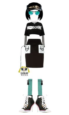 sugar spice everything nice by kathyaalrust liked on polyvore featuring moschino ray ban and logomania