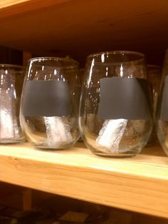 Pier 1 Chalk Note Stemless Wine Glassware