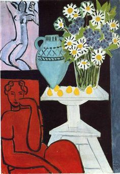 The Daisies, 1939 by Henri Matisse. Expressionism. interior. Art Institute of Chicago, Chicago, IL, USA