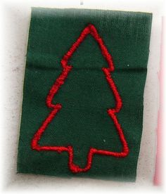 Broderie Sapin Vert/Rouge