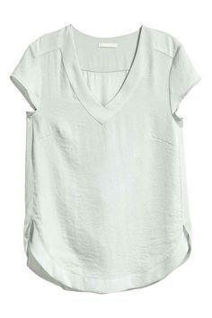 Атласная блузка | H&M