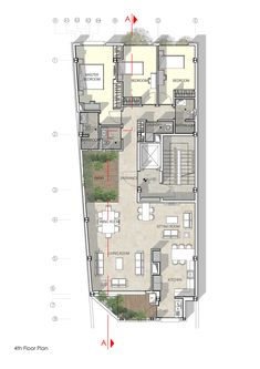 Haghighi Residential Building,Fourth Floor Plan