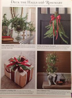 Add rosemary to christmas decorations