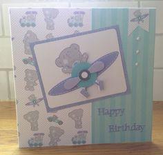 Handmade boys card using tiny tatty teddy Handmade Birthday Cards, Handmade Cards, Tiny Teddies, Craftwork Cards, Tatty Teddy, Kids Cards, Make And Sell, Teenagers, Making Ideas