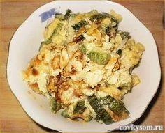 Жареные кабачки с яйцами. Недорого и вкусно!