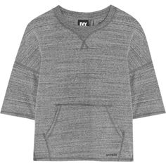 IVY PARK Split-back stretch-jersey sweatshirt (510 ARS) ❤ liked on Polyvore featuring tops, sweaters, sweatshirts, activewear, ivy park and stretch jersey