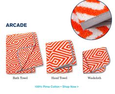 Very cute towels from Jonathan Adler, yow!