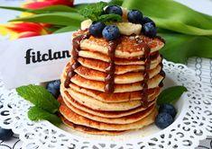 Späť ku klasike #3 - Vláčne fit lievance (Recept) – Fitclan Almond Pancakes, Sweet Tooth, Clean Eating, Fitness, Cooking, Breakfast, Desserts, Food, Yum Yum