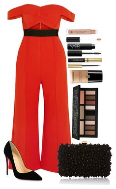 Untitled #1668 by fabianarveloc on Polyvore featuring polyvore fashion style self-portrait Christian Louboutin Elie Saab Kat Von D Anastasia Beverly Hills NARS Cosmetics clothing
