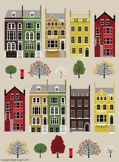 Image result for illustrated cityscapes