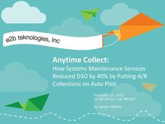 Anytime collect AR credit and collections management software by teknologies via slideshare Credit Collection, Supply Chain Management, Cloud Computing, Software, Presentation, Collections