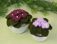 African Violets crochet pattern