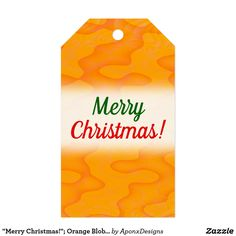 Orange Blob or Splotch Pattern Gift Tags created by AponxDesigns. Christmas Gift Tags, Merry Christmas, Orange, Pattern, Cards, Merry Little Christmas, Patterns, Wish You Merry Christmas, Maps