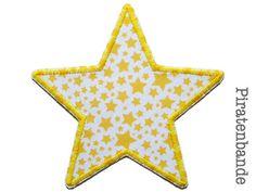Aufnäher Stern Sternchen gelb Applikation