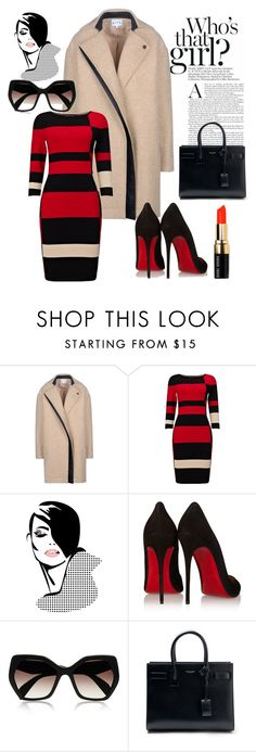 """Untitled #539"" by vernesta ❤ liked on Polyvore featuring Atto, Phase Eight, Retrò, Christian Louboutin, Prada, Yves Saint Laurent and Bobbi Brown Cosmetics"