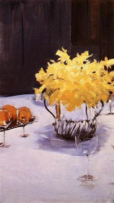 Still Life with Daffodils, 1890 by John Singer Sargent. Impressionism. still life