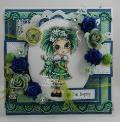 Be Happy Handmade OOAK Keepsake Card by thehoosierstamper, $14.95 USD