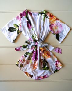 Beautiful children's floral flower girl robe by Piyama (thankfully they make it in adult sizes too!)