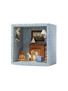 The Little Reading Room Story Box Eco Friendly Paint, Wooden Wall Panels, Blue Rooms, Reading Room, Interior Design Services, All Design, Bedroom Wall, Altered Art, Paper Art