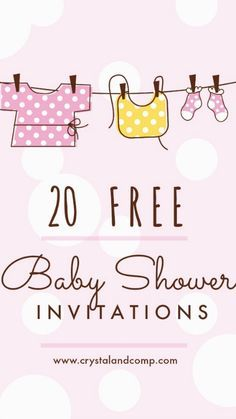 Free Baby Shower Invitations ~ Are you planning a baby shower? You'll find this list of free, printable baby shower invitations helpful. There's a wide range of styles, themes and colors for boy, girl and to-be-announced gender