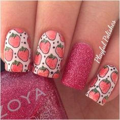 Advanced Stamping/Strawberry Nail Art