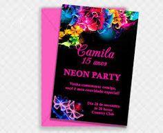 Resultado de imagen para convites para neon party