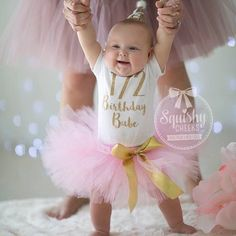 Half Birthday Babe Outfit, 1/2 Birthday, Pink and Gold Half Birthday Bodysuit, 1/2 Birthday Outfit, 6 Month Birthday Tutu Outfit by BabySquishyCheeks on Etsy https://www.etsy.com/listing/250936261/half-birthday-babe-outfit-12-birthday