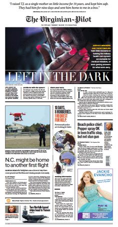 The Virginian-Pilot's front page for Tuesday, April 21, 2015.