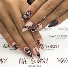 Nail Ideas to Inspire Your Next Mani: ELEGANT COFFIN NAILS; Nail trends are always changing which means you will never run out of new nail designs to try. With all that choice though, deciding on what nails to have next can be difficult! Cute Acrylic Nails, Acrylic Nail Designs, Cute Nails, Pretty Nails, Nail Art Designs, Indian Nail Designs, Indian Nail Art, Indian Nails, Nails Design