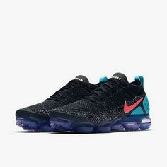 0a113c71314a Nike Air Vapormax Flyknit 2 Hot Punch Black Nike Basketball Shoes, Nike  Shoes, Men's