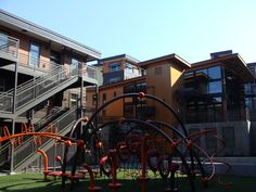Jungle gym! At YWCA Family Village Issaquah, an affordable housing community. Photo credit: William Wright.
