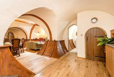 Lord of the Rings fans can live like a hobbit in a quirky hand-crafted holiday let Great Buildings And Structures, Modern Buildings, Hobbit Hole, The Hobbit, Ring Home, Flatscreen, Geodesic Dome, Cottage Living, Gaudi