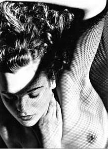 Olive Cotton Jean with wire mesh  (1936) www.artgallery.nsw.gov.au. The Photographer's Shadow'