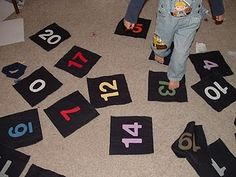 Active Number Games - incl. homemade number line