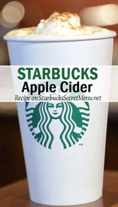 Starbucks take on the classic apple cider! Starbucks Apple Cider, Starbucks Latte, Starbucks Secret Menu Drinks, Starbucks Recipes, Coffee Drink Recipes, Coffee Drinks, Album Design, Smoothie Drinks, Smoothies