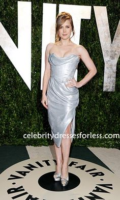 Amy Adams Pretty Cocktail Dress Celebrity Dresses 2012 Vanity Fair Oscar Party Formal Dress.prom dresses,formal dresses,ball gown,homecoming dresses,party dress,evening dresses,sequin dresses,cocktail dresses,graduation dresses,formal gowns,prom gown,evening gown