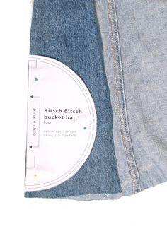 Free pattern:  bucket hat from old denim jeans