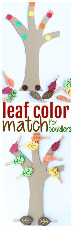 Leaf Color Match for Toddlers: The perfect activity for the fall that blends color recognition and fine motor practice! Leaf Color Match for Toddlers: The perfect activity for the fall that blends color recognition and fine motor practice! Fall Activities For Toddlers, Lesson Plans For Toddlers, Fall Preschool, Preschool Lessons, Preschool Crafts, Thanksgiving Activities, Preschool Ideas, Kid Crafts, Toddler Fun