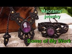 How to make a macrame knot wrapped stones handmade with waxed cord - YouTube