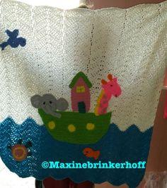 Noah's ark, baby  Crochet blanket.
